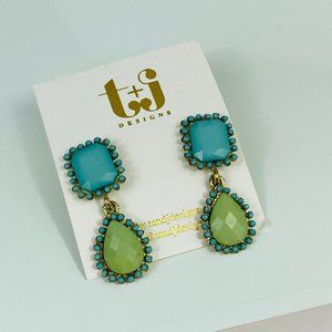t+j designs drop earrings